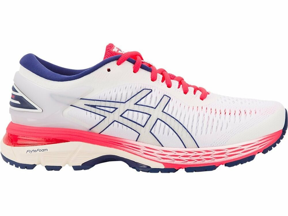 d6ad49713fe Details about Asics Gel-Kayano 25 White Pink Women Running Shoes D Width  1012A032-100