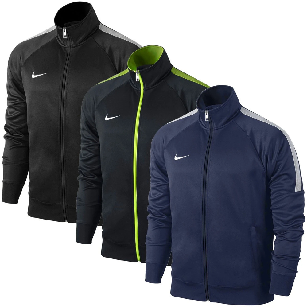5c3065889ad9 Details about Boys Nike Youth Club Jacket Football Team Training Track Top  Zip Size BNWT