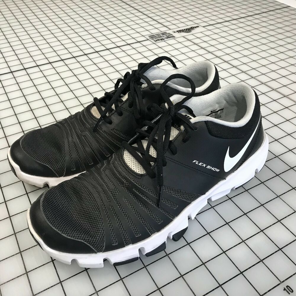 76587fe4c3d34 Details about Nike Men s Flex Show TR 5 Training Shoe Black White Pure  Platinum US 9.5