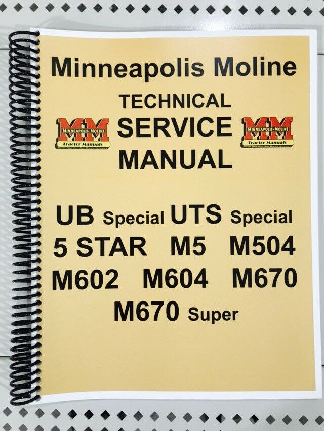 5 Star Minneapolis Moline Technical Service Shop Manual 5star Ebayrhebay: Minneapolis Moline Wiring Diagrams At Gmaili.net