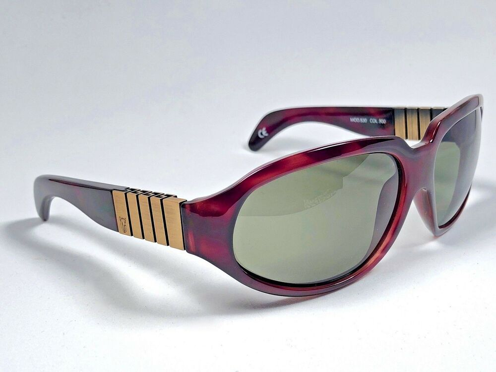 2171e0df219c3 NEW VINTAGE GIANNI VERSACE 530 DARK TORTOISE   COPPER 1990  S ITALY  SUNGLASSES