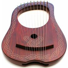 Lyre Harp 10 Strings  WITH FREE KEY AND BAG + String Set  Black Friday Offer