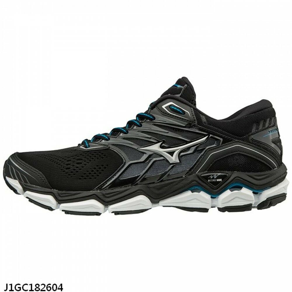 Details about Mizuno Wave Horizon 2 Black White Men Running Shoes Tenis  J1GC182604 3bdfed6d26a25