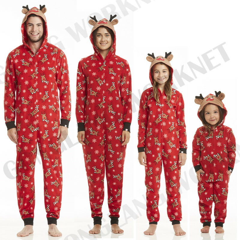 Family Matching Christmas Pajamas Set Mom Dad Kids Deer Sleepwear ... 8d8acf202