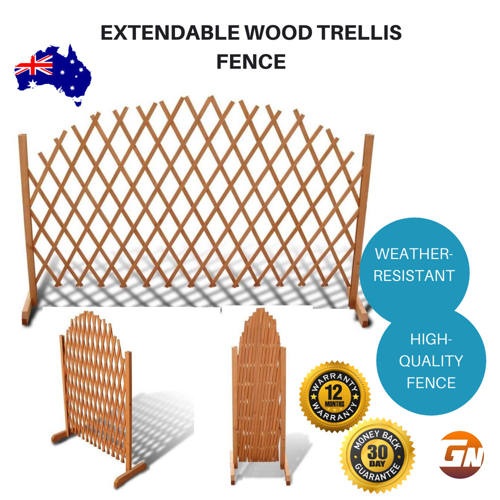 Clever Extendable Wood Trellis Fence For Wedding Party Decoration Garden Control Garden Décor