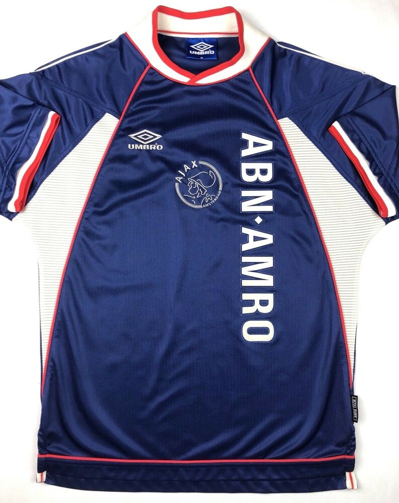 Details about Umbro AJAX AMSTERDAM 1999 2000 M Away Soccer Jersey Football  Shirt AFC Holland e24705199