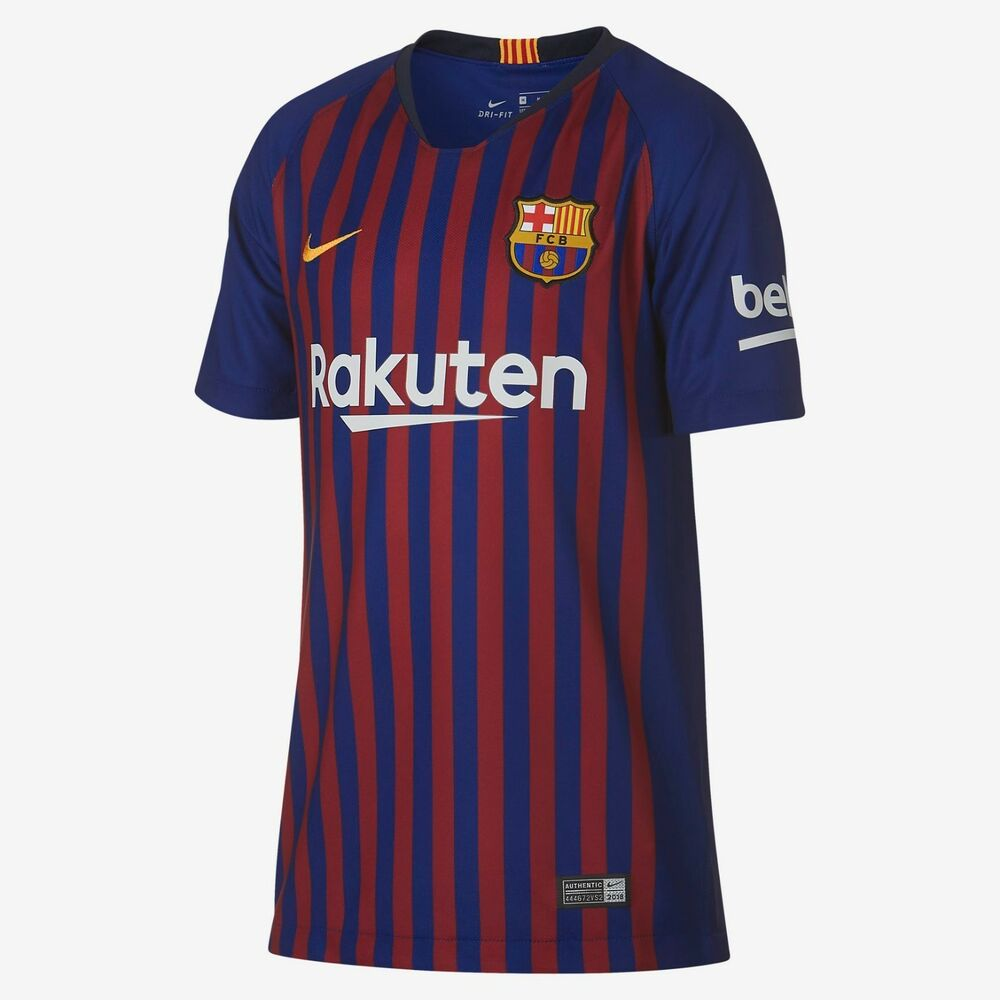 8ebd4701c Details about Youth Nike FC Barcelona Official 2018 2019 Home Big Kids  Soccer  Jersey