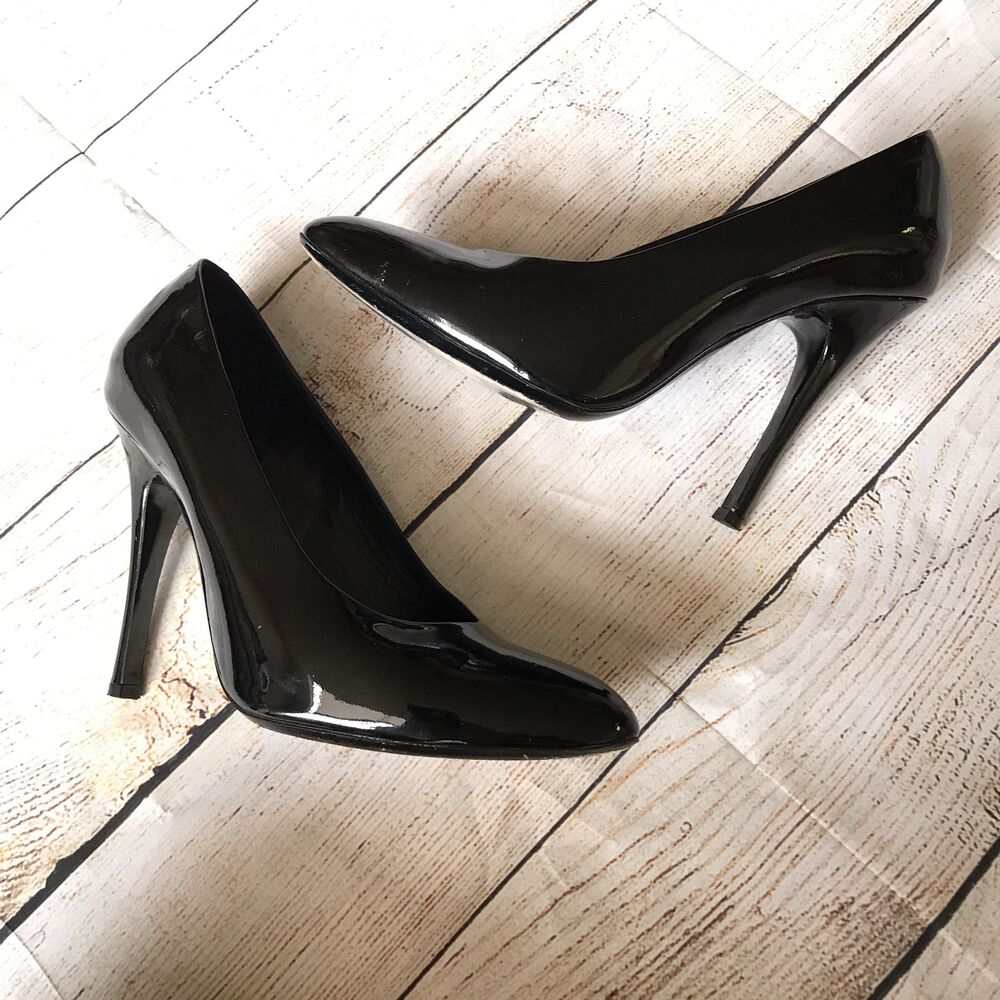 629f9fe4c6 Details about Marc Jacobs Womens Heels Size 39.5 Classic Black Patent  Leather Professional