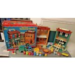 VTG Fisher Price Little People Sesame Street PlayHouse 938 REALLY Complete w box