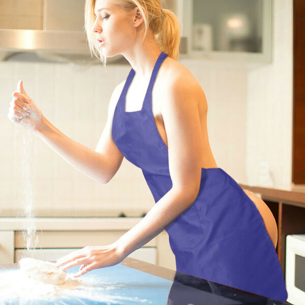3-PACK Aprons Commercial Restaurant Spun Poly Bib for Women Home Cooking Kitchen