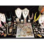 HUGE LOT VINTAGE TO MODERN ESTATE COSTUME JEWELRY 164+ PIECES 24 DEMI SETS