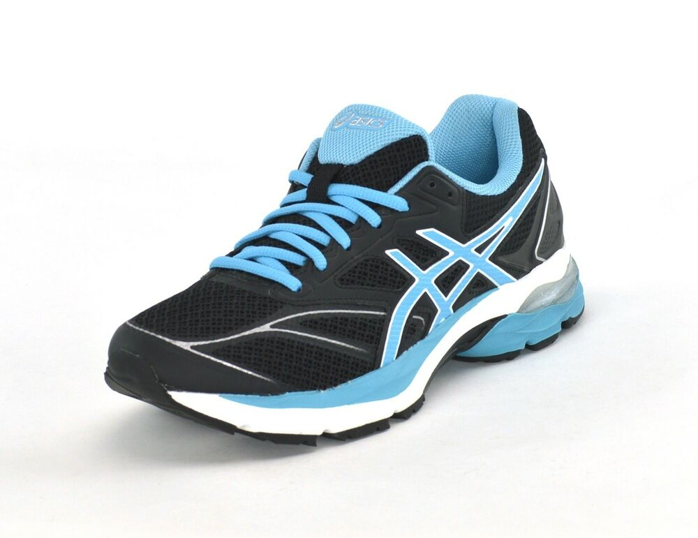 Clothing, Shoes & Accessories Sporting Goods Asics Gel Pulse 8 Womens Cushioned Running Shoes Trainers Black Blue