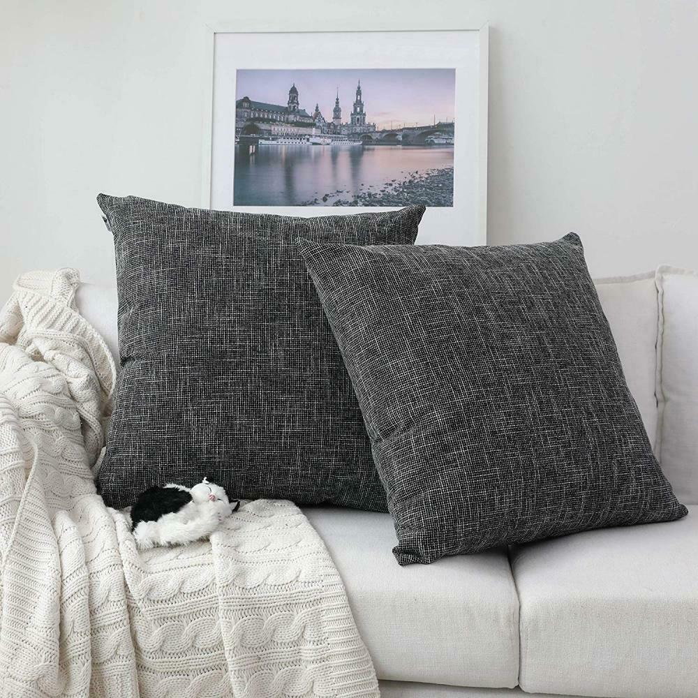 Details About Throw Pillow Case Cover Burlap Rustic Western Sofa Couch Home Decor Wedding New