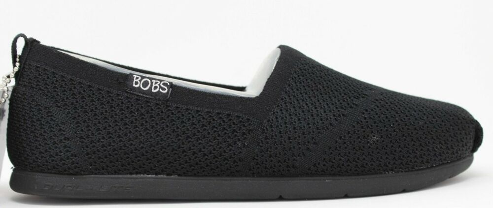 8c484895a867 Details about Skechers Bobs Women s Plush Lite-Custom-Built Black  34459W BBK WIDE Fit