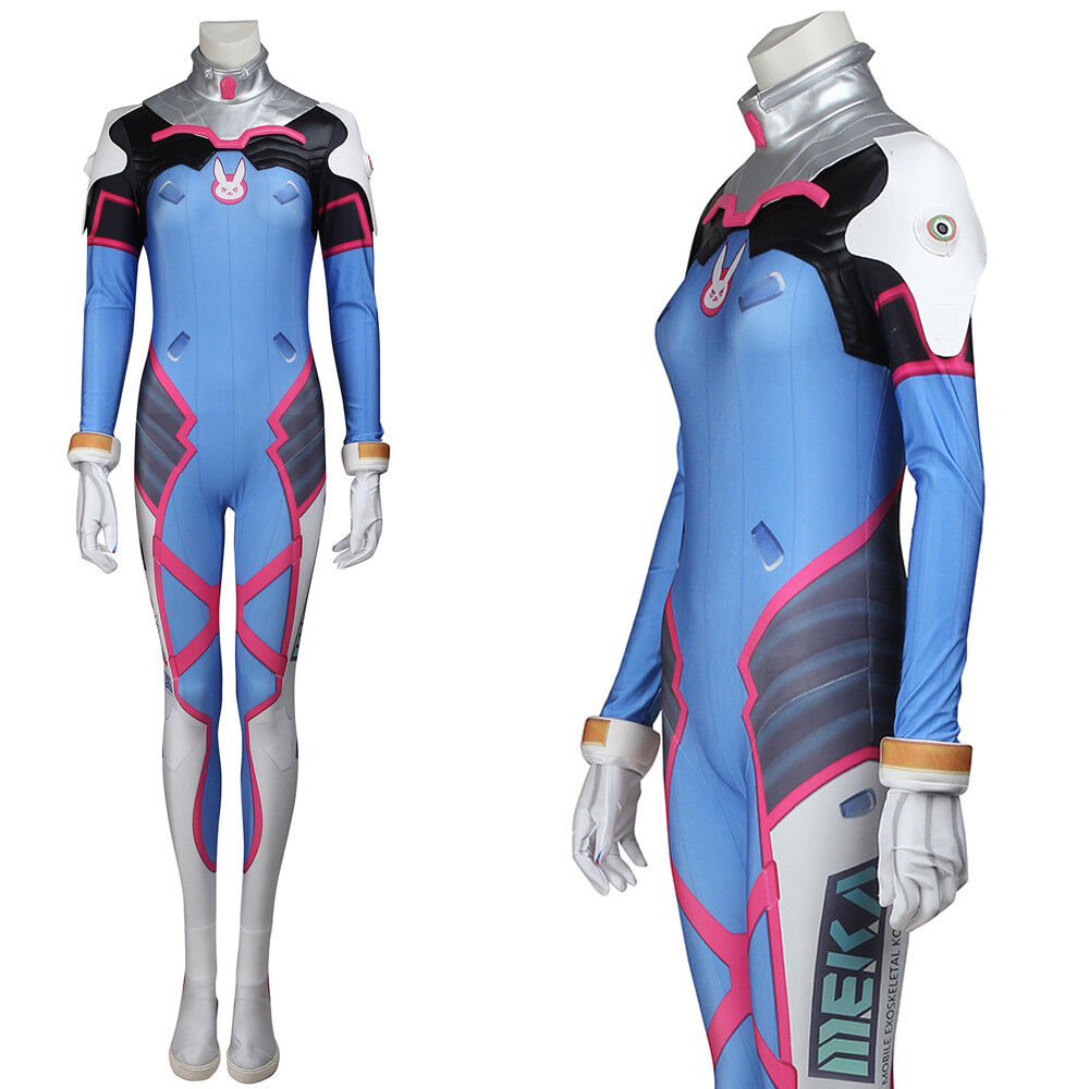 Details about Overwatch D.Va OW Game Cosplay Costume Zentai Suit Women  Jumpsuit Halloween Cos b0e2a4cf54a3