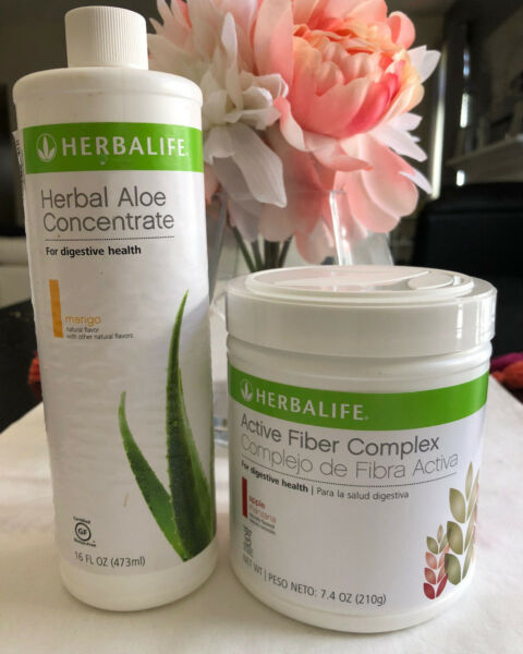 NEW HERBALIFE ALOE CONCENTRATE & ACTIVE FIBER COMPLEX FOR DIGESTIVE HEALTH