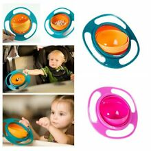 US Baby Kids 360 Rotate Feeding Bowl Universal Cute Gyro Spill-Proof Bowl Dishes