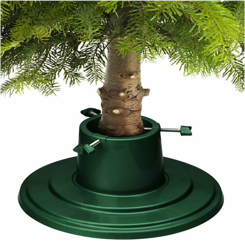 Details About Christmas Tree Stand Green Holly Round Water Holding 6ft 18m Real Xmas Trees