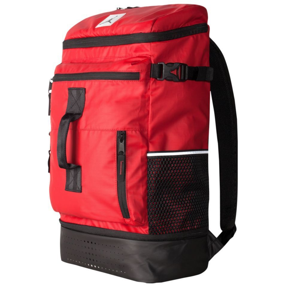 e48adccf5995 Details about Nike UNISEX AIR JORDAN Breakfast Club Backpack Laptop Bag  Black Red BRED RETRO
