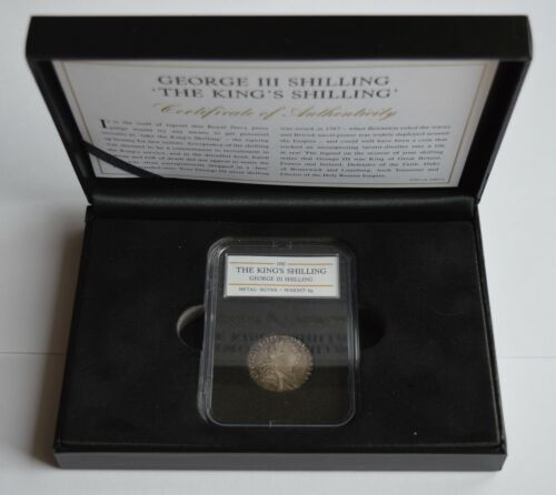 1787 George III Silver Shilling The King's Shilling COA + Case