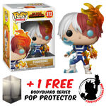 FUNKO POP MY HERO ACADEMIA TODOROKI VINYL FIGURE + POP PROTECTOR