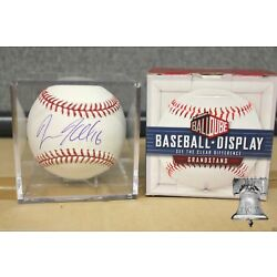 Grandstand Baseball Holder Clear Acrylic Cube Deluxe Display Storage Case Stand