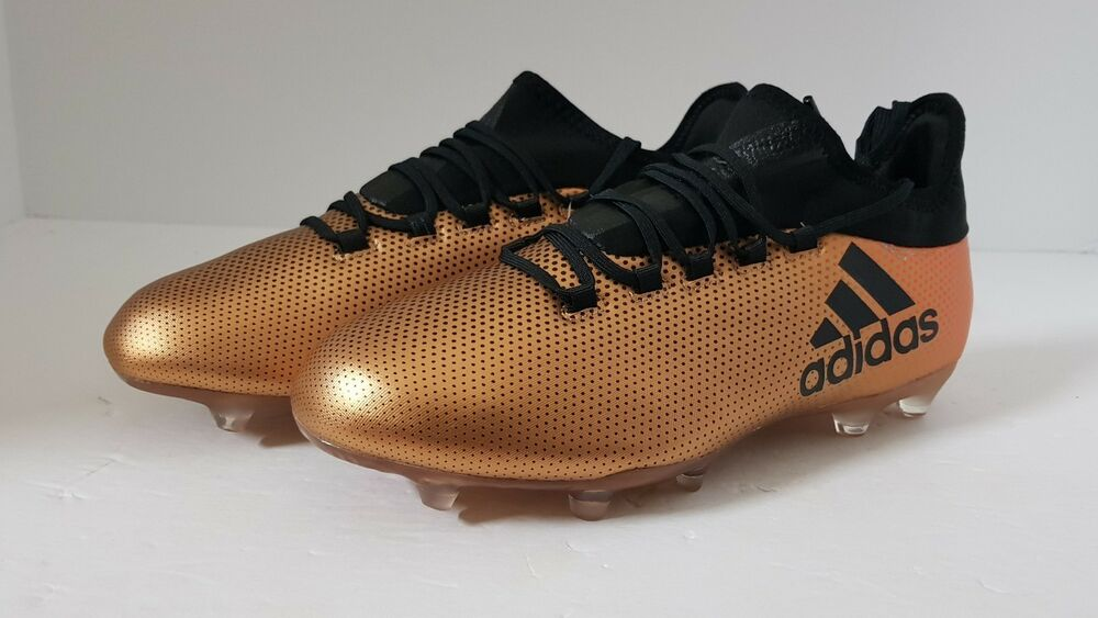 8850f25c1 Details about Mens Adidas X 17.2 FG Soccer Cleats sz 7 Metallic Gold Black  Solar Red CP9186