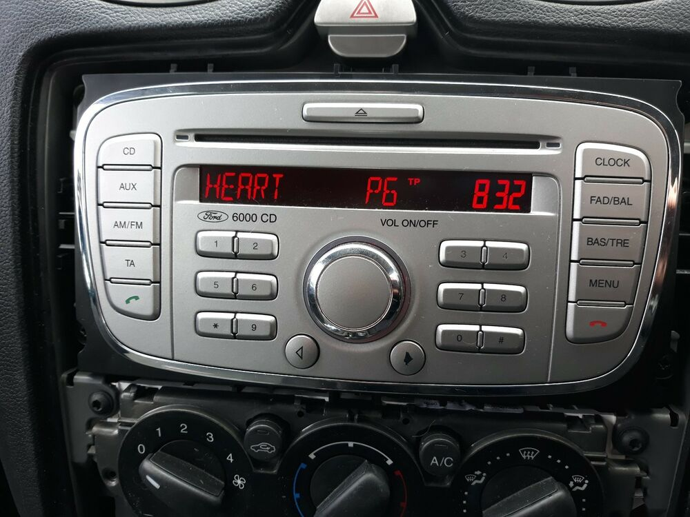 Details About Ford Focus Stereo Codes Pin Car Unlock Radio Code Service 6000cd V Series