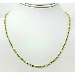 Kyпить Real 14K Yellow Gold Necklace Gold Rope Chain 1.8 mm 16''-30''  Genuine 14KT на еВаy.соm