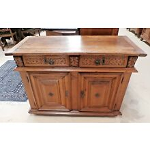 18th century French Carved Walnut Cabinet Sideboard W 46.5
