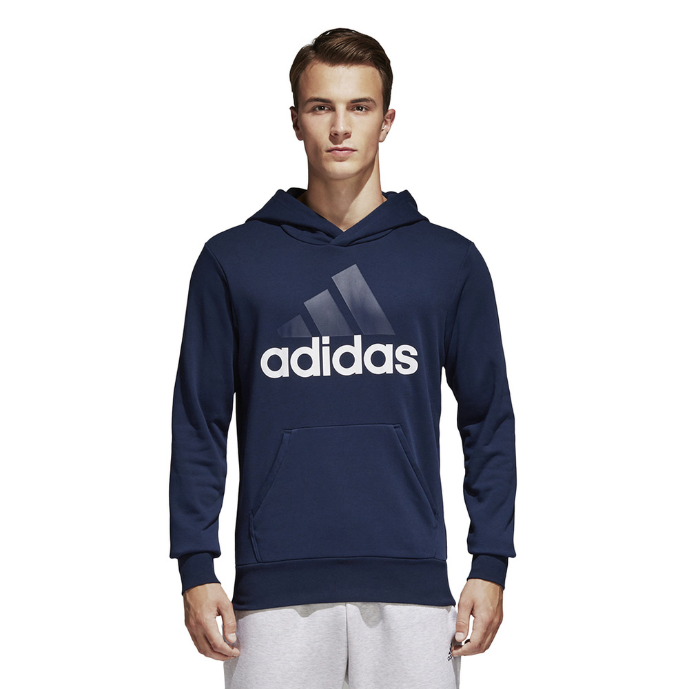 eaf04537d35 Details about Adidas Men Hoodie Running Linear Pullover Training Navy  Modern Hood New B45730