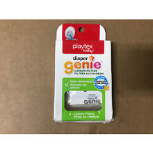 Playtex Carbon Filter 4 Pack Refills for Diaper Genie Diaper Pails, White