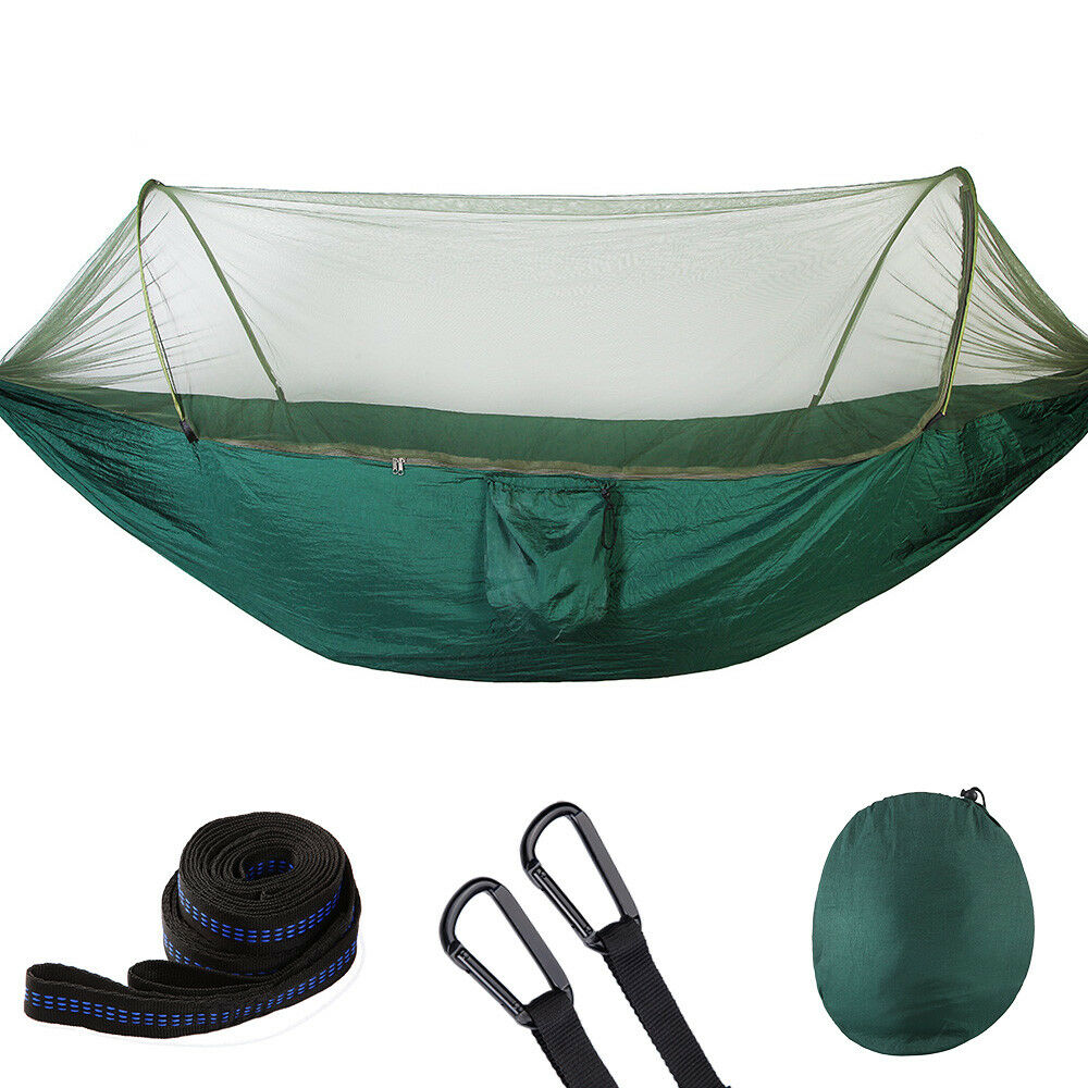 Portable Camping Hammock Mosquito Net 210t Parachute Fabric Hanging