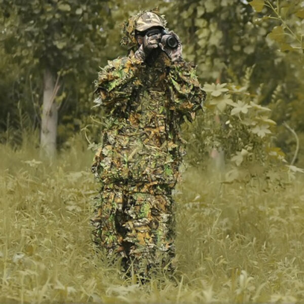 5330eca98666f Kit da caccia Woodland Sniper Ghillie Suit Kit 3D Leaf Camouflage Camo  Jungle bu