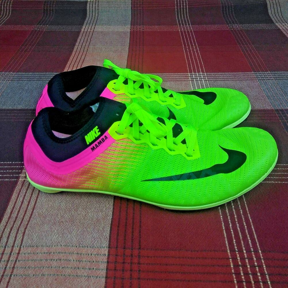 on sale 64884 6325a Details about NIKE Zoom Mamba 3 Track Racing Running Spikes Shoes Volt Men s  Size 9