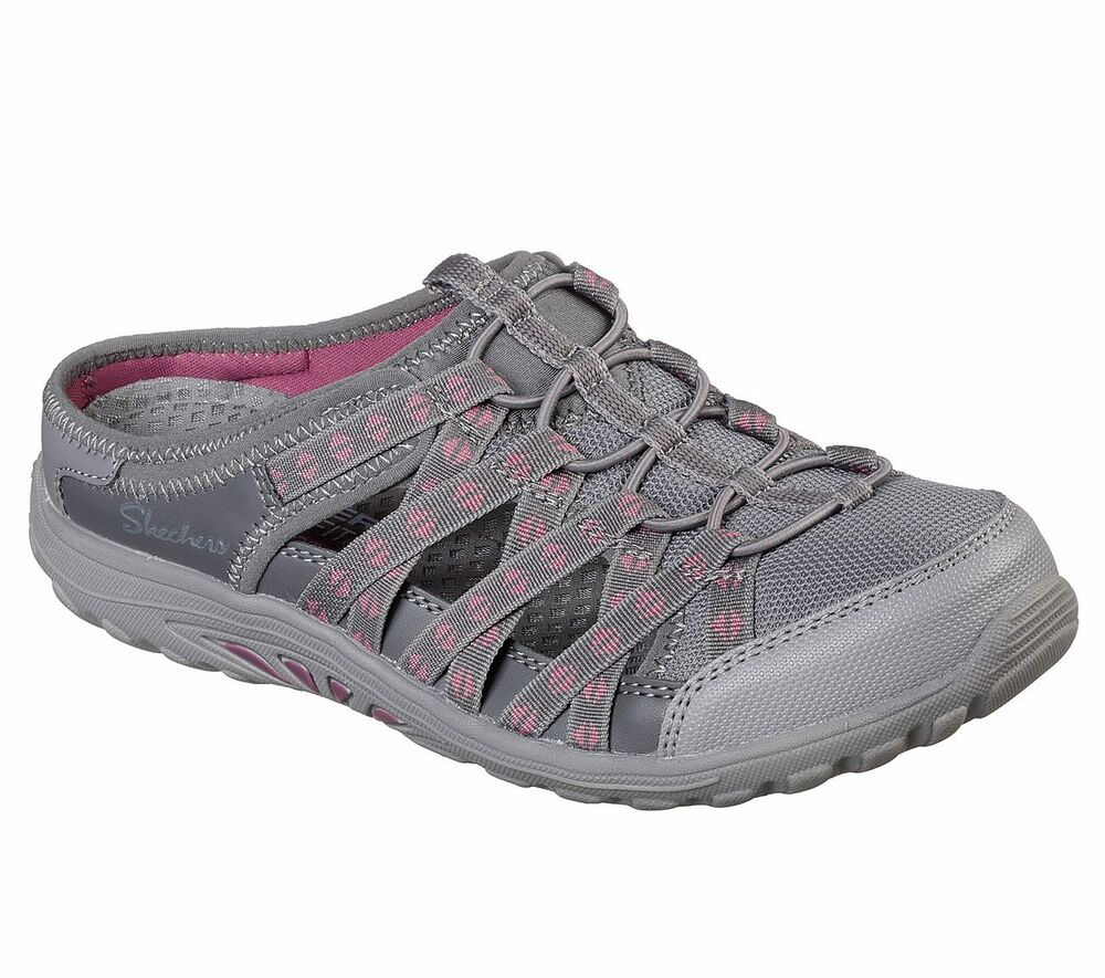 4499821dce86 Details about Skechers Women s Reggae Fest-Marlin Charcoal 49448W CCL Air  Cooled Memory Foam