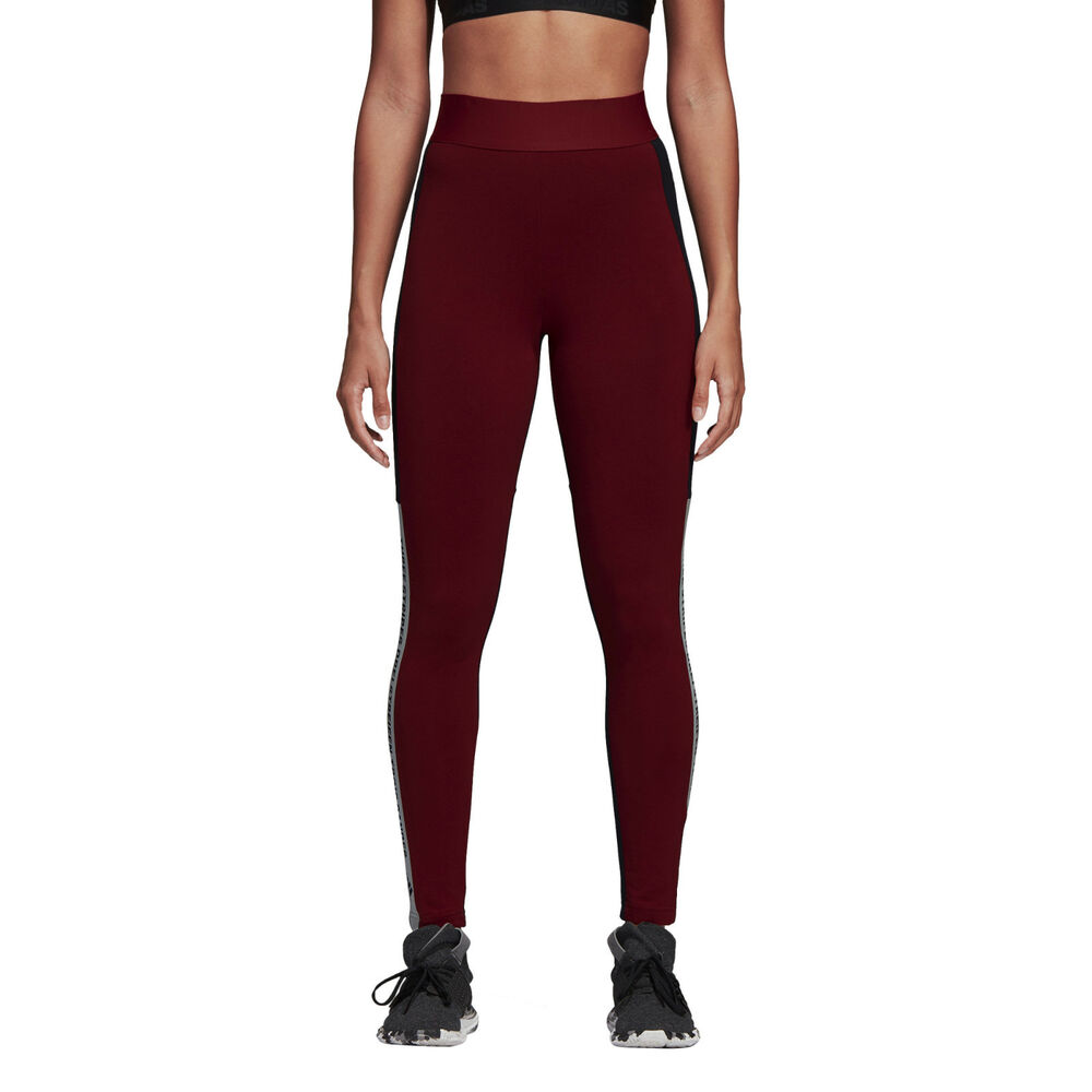 8c9622e1492e Details about Adidas Women Tights Running Sport ID Training Work Out Maroon  Gym Run CY0686 New