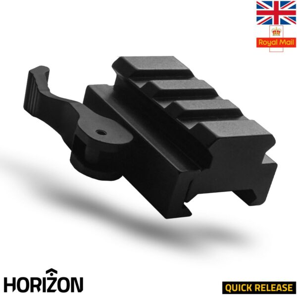 HORIZON 3 Slot Picatinny Weaver Rail Riser Mount Rail Quick Release 20mm UK