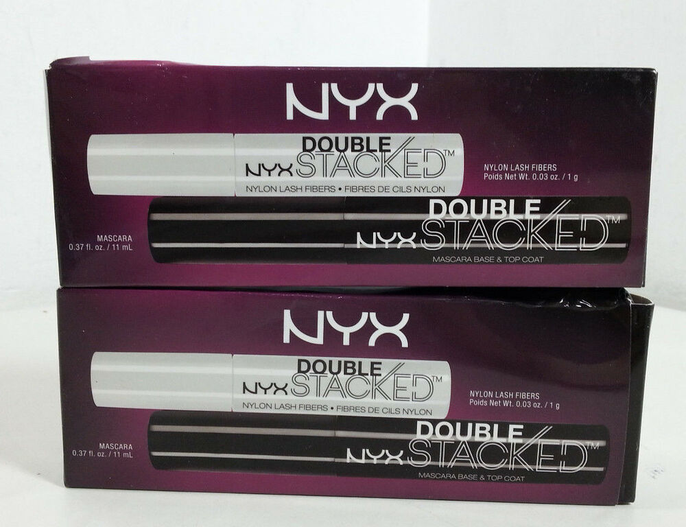 1cce9ece35f Details about NYX Professional Makeup Double Stacked Mascara (2 Pack)  [MR137-QSX2]