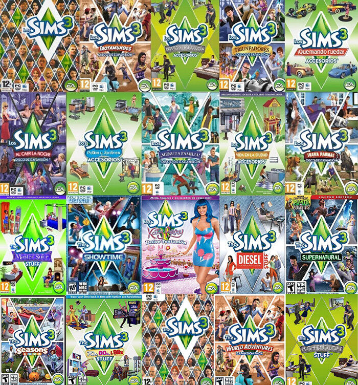 the sims 3 all expansion origin global pc key ebay