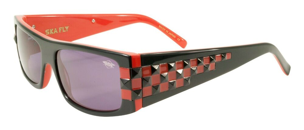 534d489b3 Details about NEW Black Flys Sunglasses SKA FLY SHINY BLACK RED W/ Smoke  LENS LIMITED EDITION