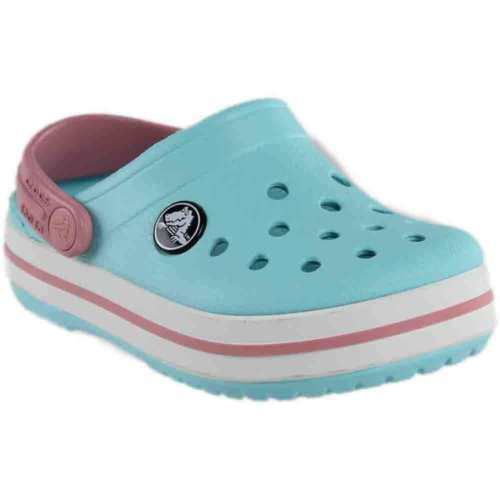 9b6f6670d0dfd5 Details about Crocs Crocband Clogs Ice Blue White Pink beach shoes various  sizes