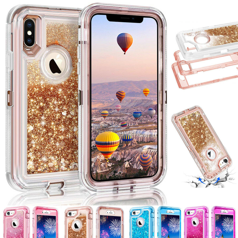 Details about 360° Quicksand Liquid Bling Glitter Case Cover For iPhone Xs  XR Xs Max 7 8 Plus 77832dde8754