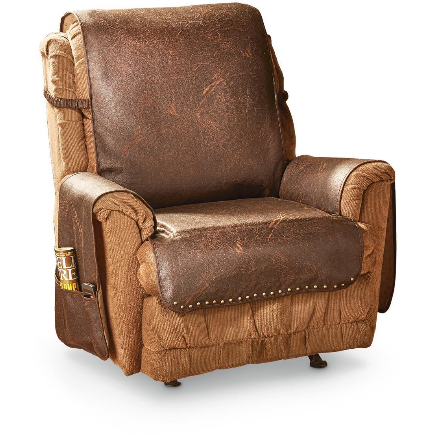 HOME FAUX LEATHER RECLINER/WING CHAIR COVER,PROTECTOR