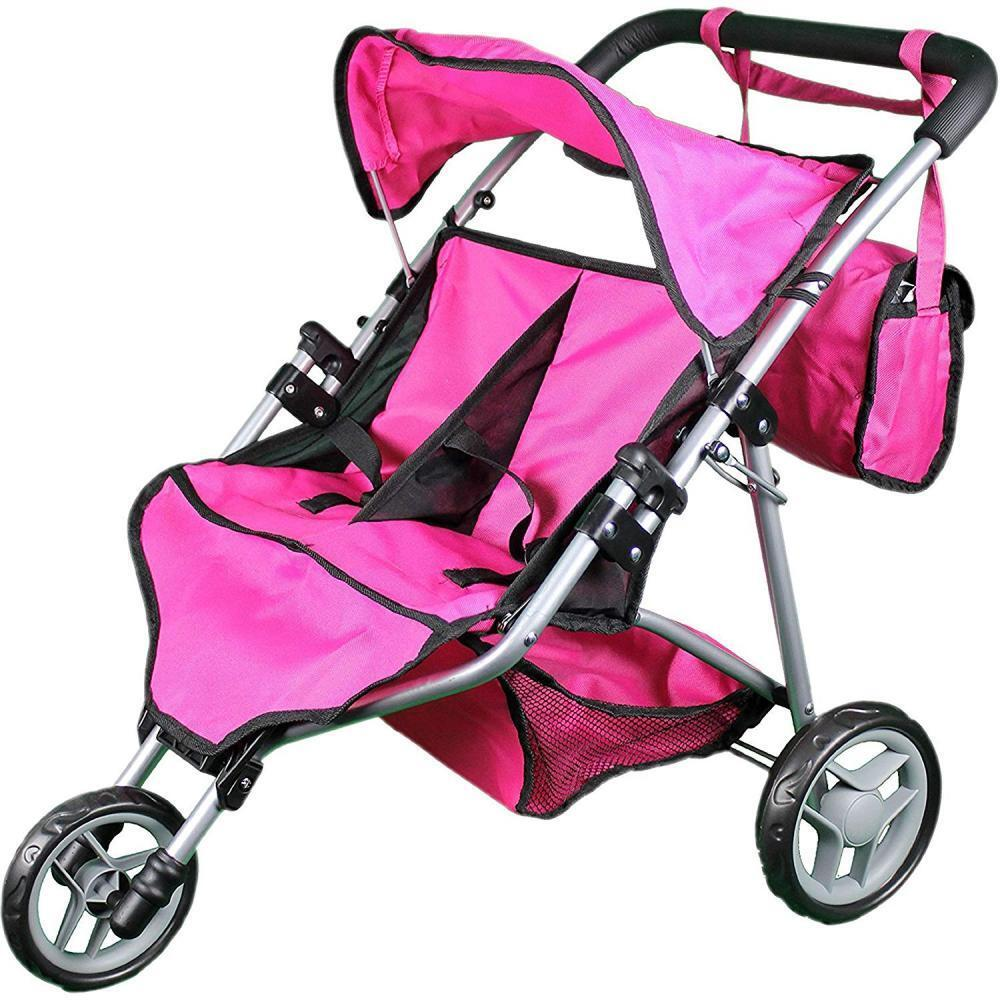 Mommy & Me Twin Doll Stroller with Free Carriage Bag ...