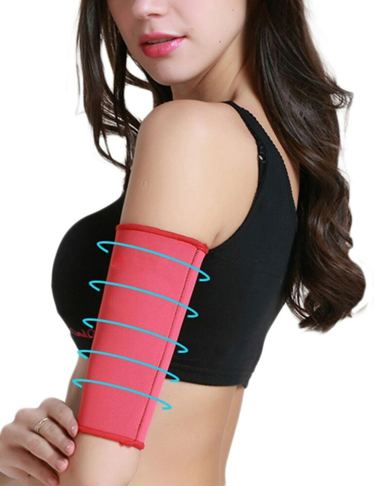 c8c3dc1bc6291 Details about 1 Pair Women Sauna Upper Arm Shapewear Slimmer Shaper  Slimming Sleeves Wraps New