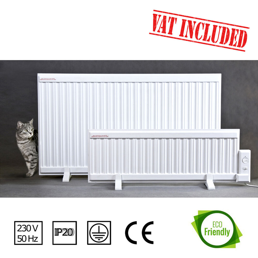 1000w Oil Filled Electric Radiator Heater Wall Mounted