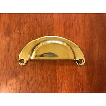 LOT OF 10 SOLID BRASS BIN PULL DRAWER HANDLES - KNOBS - ANTIQUE STYLE