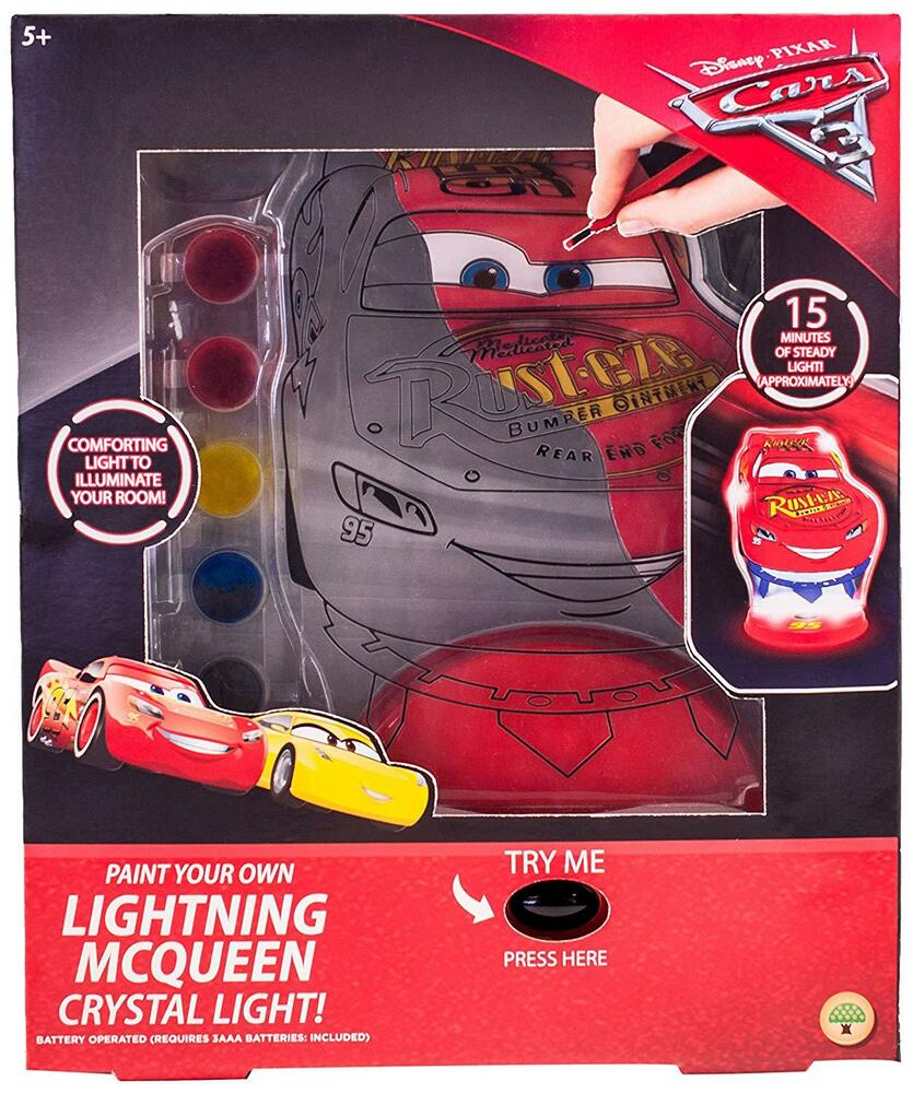 Details About New Disney Cars Paint Your Own Lightning Mcqueen Crystal Light Up