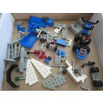 LEGO VINTAGE SPACE/ CLASSIC SPACE LOT OF USED PARTS + PIECES